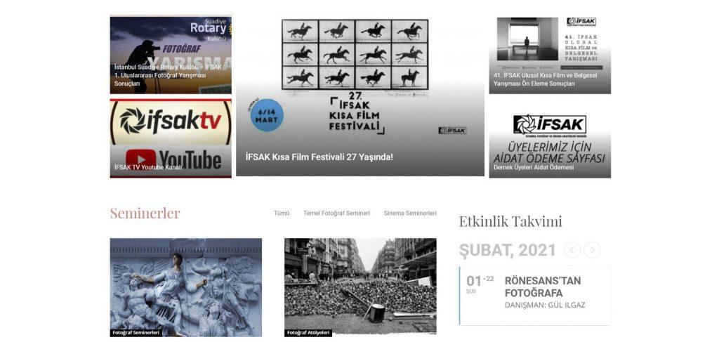 İFSAK WEB Sitesi Anasayfa